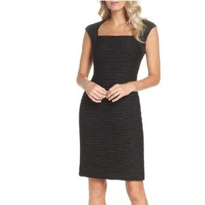 Eliza J Textured Cap Sleeve Sheath Dress